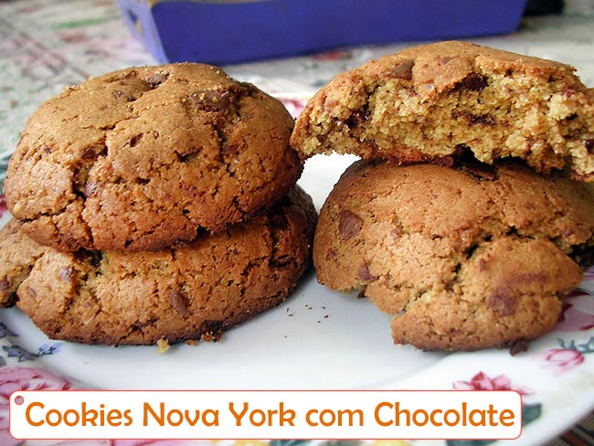 Cookies de Nova York - com Chocolate